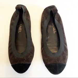 Chanel spirit suede stretch ballet flats